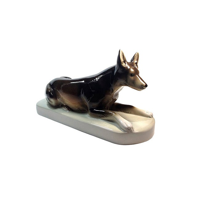 Royal Dux Porcelain German Shepherd - Image 3 of 5