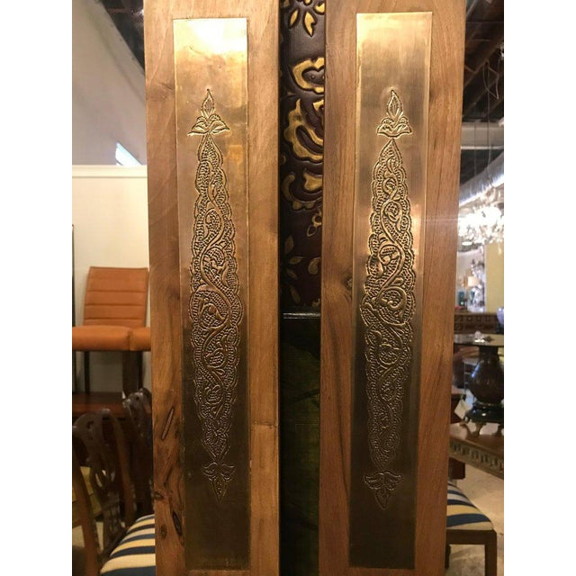 Pair of Hollywood Regency Style Brass Framed Wall or Console or Pier Mirrors For Sale In New York - Image 6 of 10