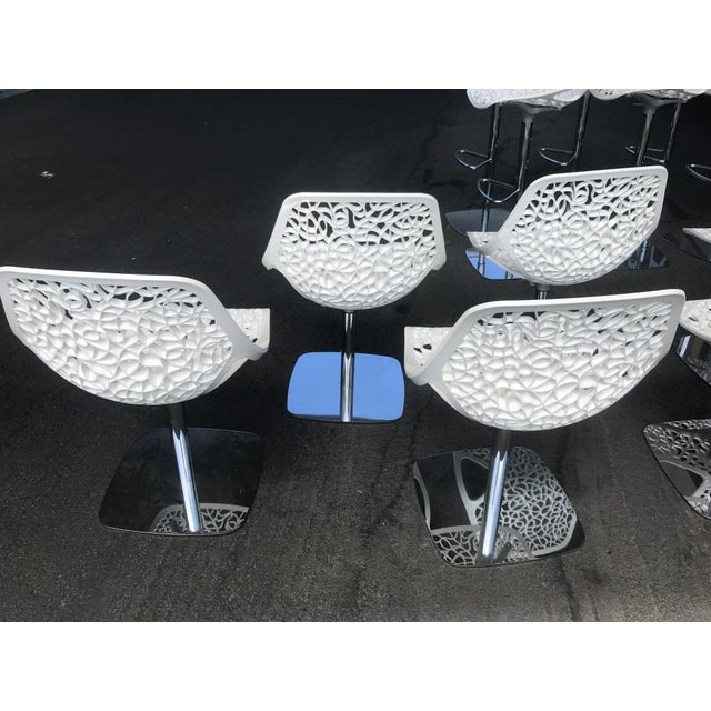 Casprini White Dining Chairs - Set of 8 For Sale - Image 4 of 11