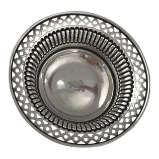 Blair & Crawford Sterling Silver Pierced Nut Dish For Sale