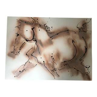 Modern Bronzed Pony Painting by Donna Bernstein For Sale