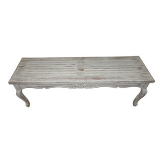 Off-White Finish Wooden Bench