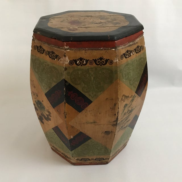 Chinese Octagonal Barrel & Lid For Sale - Image 4 of 11