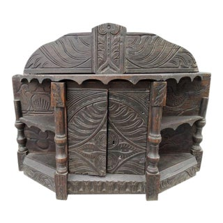 Celtic Folk Art Cupboard For Sale