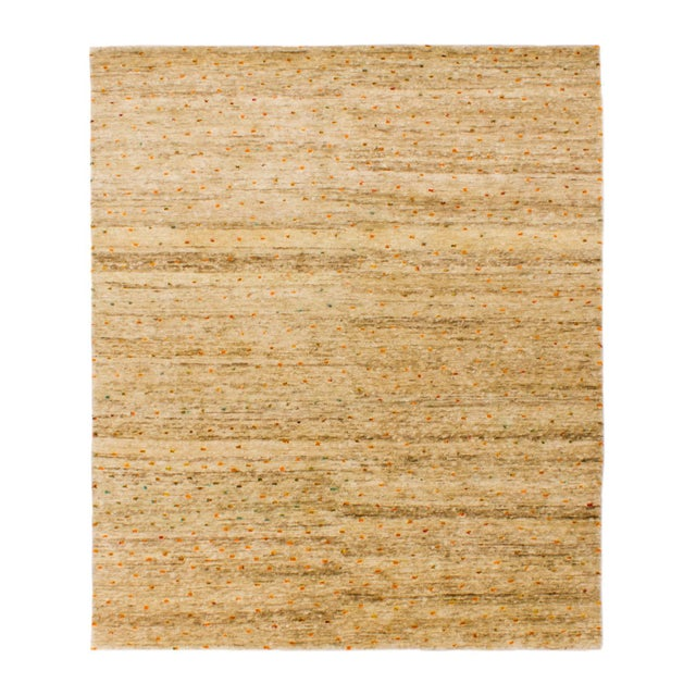 Contemporary Solo Rugs Grit and Ground Collection Contemporary Confetti Day Hand-Knotted Area Rug, Natural, 6' X 9' For Sale - Image 3 of 3