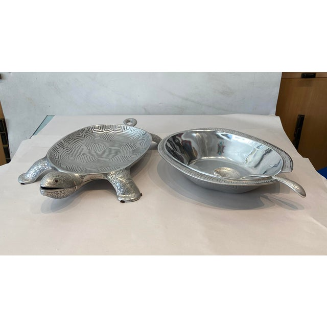 1970s Aruther Court Turtle Serving Dish With Ladle For Sale - Image 5 of 8
