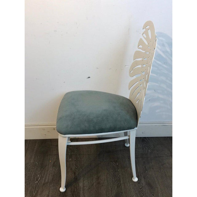 Mid-Century Modern Six 1970s Wrought Iron Palmette Chairs, Restored For Sale - Image 3 of 10
