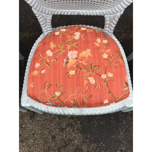Textile 1970s Vintage Hollywood Regency Carved Rope Chairs - Set of 4 For Sale - Image 7 of 12