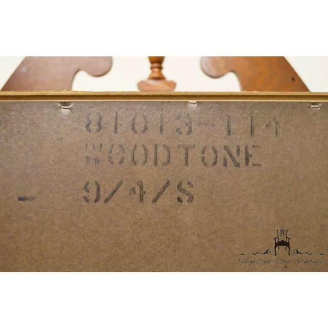 20th Century French Stanley Furniture Cherry Pediment-Top Highboy Chest For Sale - Image 12 of 13