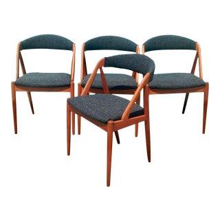 1960s Danish Modern Kai Kristiansen Teak Dining Chairs - Set of 4