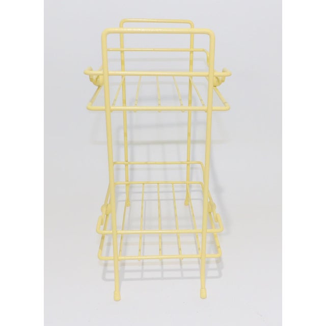 Contemporary 20th Century Comtemporary Yellow Strawflower Metal Rack For Sale - Image 3 of 6