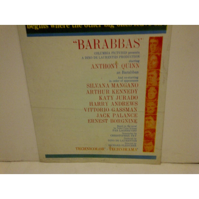 """Barabbas"" Vintage Movie Poster For Sale - Image 4 of 5"