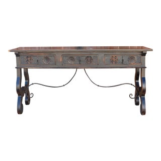 17th Century Style Spanish Toledo Console Table For Sale
