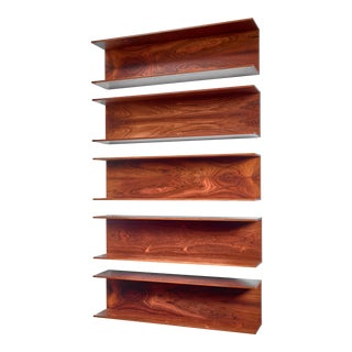 Set of 5 (From 6) Wilhelm Renz Wooden Open Wall Shelves For Sale