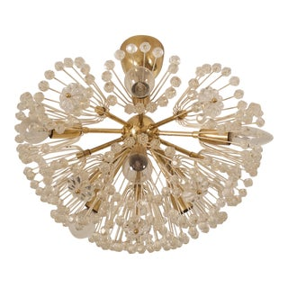 Impressive Emil Stejnar Brass and Glass Sputnik Snowball Chandelier For Sale