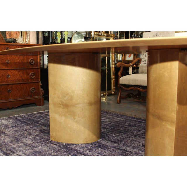 Aldo Tura Lacquered Goatskin Dining Table With Knife-edge Top - Image 9 of 11