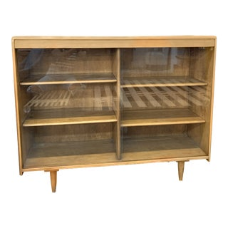 Mid Century Petite Bookcase For Sale