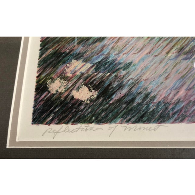 "1960s Vintage Abstract Print ""Reflections of Monet"" For Sale In New York - Image 6 of 10"
