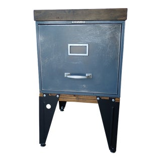 1940s Industrial Steel File Box For Sale