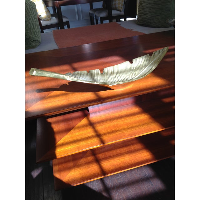 Banana Leaf Gold Decorative Tray For Sale - Image 11 of 13