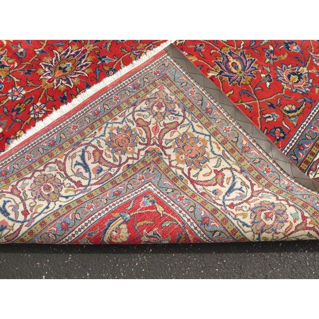 1980s Vintage Sarouk Pattern Rug- 8′ × 11′6″ For Sale - Image 9 of 11