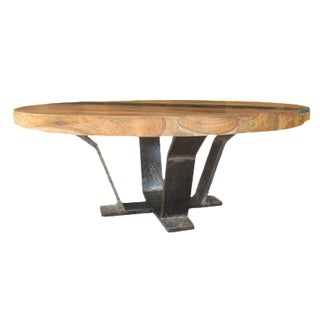Teak Me Home Tides Round Cocktail Table For Sale