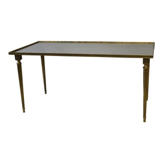 Louis XVI Style Brass & Glass Cocktail Table For Sale