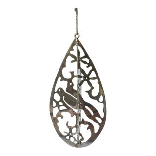 Mexico Sterling Silver Cutout 3d Christmas Tree Ornament For Sale