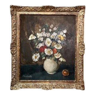 Antique Framed Oil Painting on Board by Emile Lambrechts (1886-1948) For Sale