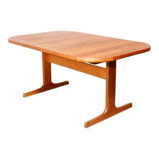Danish Teak Extending Dining Table For Sale