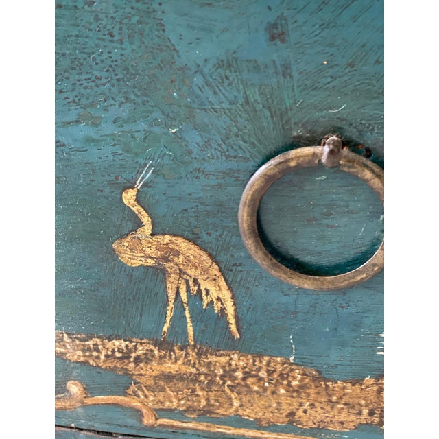 Teal 18th C. Venetian Chinoiserie Commode For Sale - Image 8 of 11