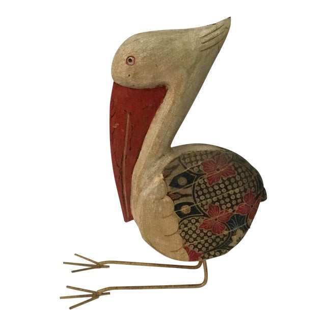 Wooden Pelican Decorative from Bali - Image 1 of 4