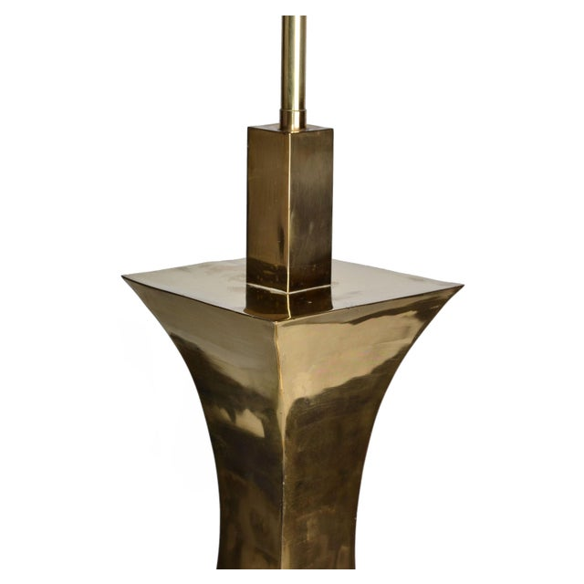 Tall Solid Brass Vessel Shape Table Lamps, a Pair - Image 5 of 10
