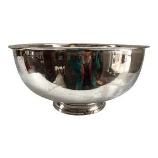 Monumental Silver Plate Champagne Bucket Punch or Centerpiece Bowl For Sale