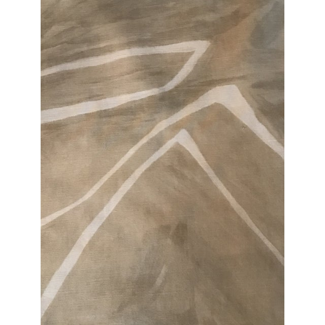 Contemporary Groundworks Graffito Beige/Ivory Fabric - 5 Yards For Sale In Raleigh - Image 6 of 7