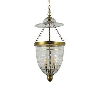 Petite Brass English Bell Jar Lantern For Sale