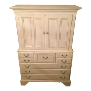 Cottage Collection Lexington White Armoire For Sale