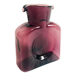 Mid Century Purple Glass Pitcher by Blenko For Sale