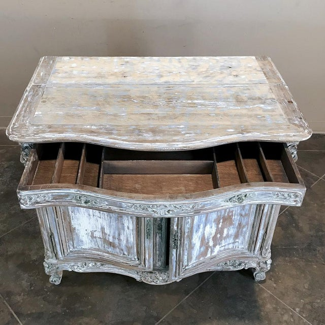 19th Century French Regence Whitewashed Commode For Sale - Image 9 of 13