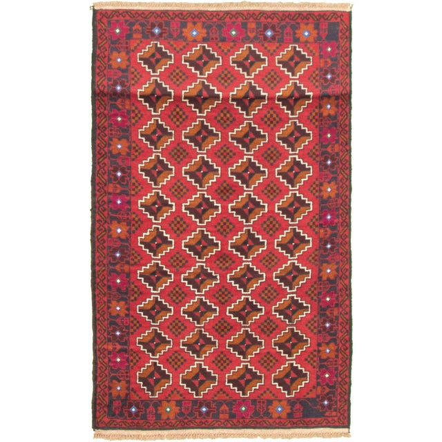 Tribal Afghan Hand-Knotted Rug For Sale - Image 9 of 9