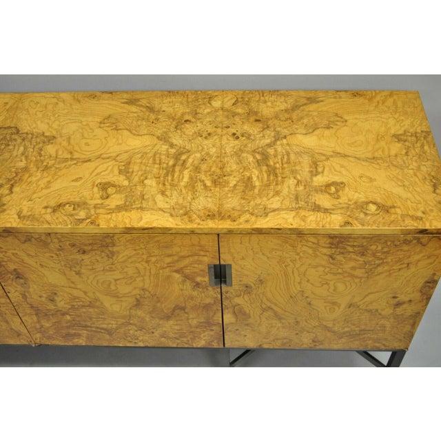 Roger Sprunger for Dunbar Burled Olivewood Credenza For Sale - Image 9 of 13