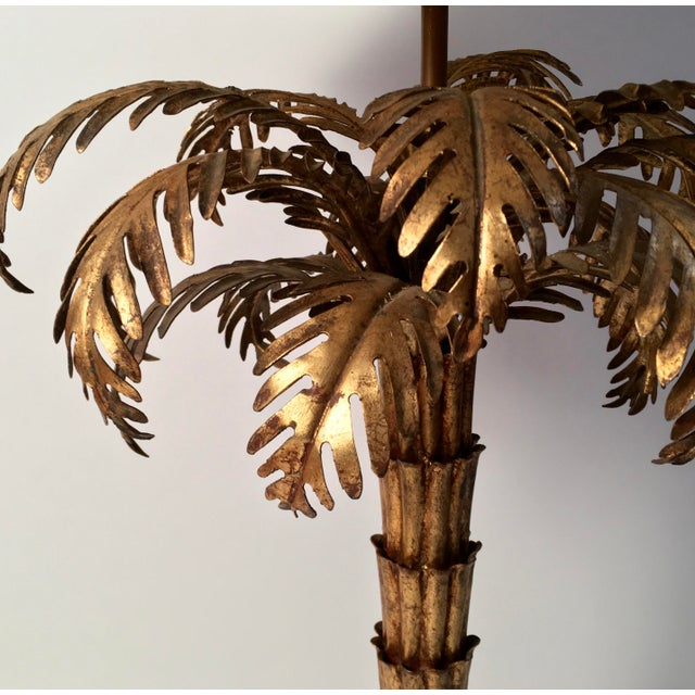 Metal Gilt Metal Palm Tree Lamp For Sale - Image 7 of 7
