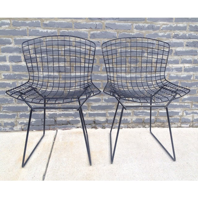 Harry Bertoia Black Side Chairs - Pair - Image 3 of 7