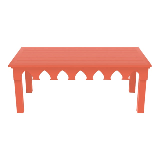Oomph Ocean Drive Rectangle Outdoor Coffee Table, Orange For Sale