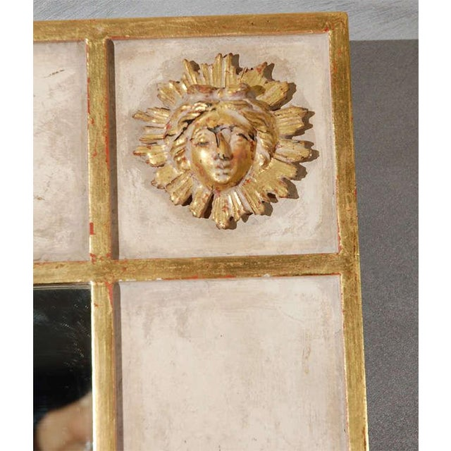 American Classical Sun Faces Wall Mirror For Sale - Image 3 of 5