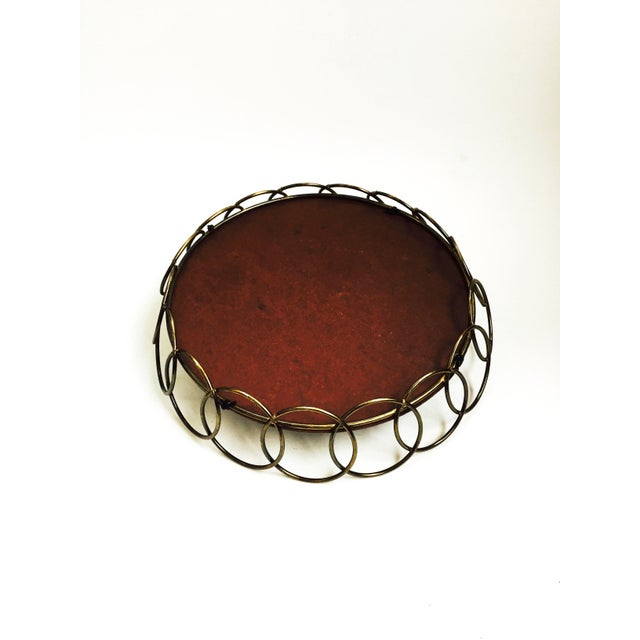 Mid-Century Brass Wire Tray - Image 6 of 6