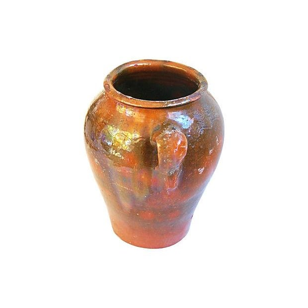 Large French Antique Brown Glazed Confit Pot - Image 4 of 6