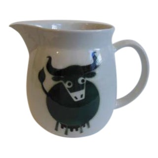 Vintage Arabia Bull Cow Pitcher Kaj Franck - Image 1 of 6