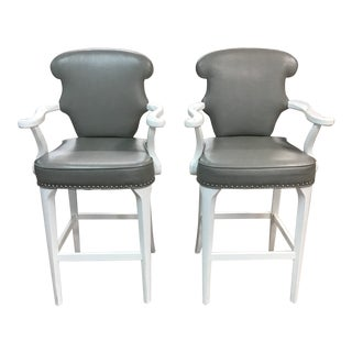Century Furniture Barstools - Set of 2 For Sale