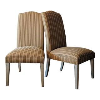 Bernhardt Parsons Linen Chairs - a Pair